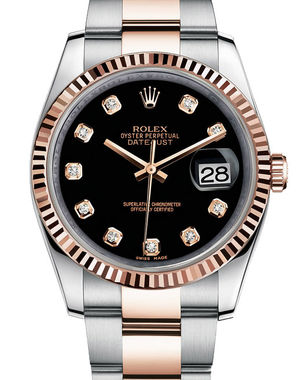 Rolex Datejust 36 116231 black diamond dial Oyster