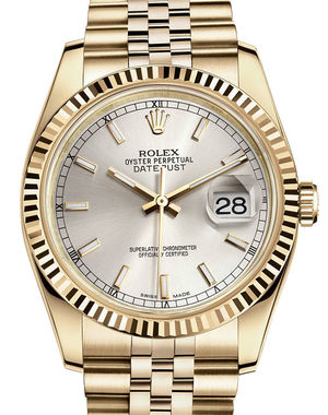 Rolex Datejust 36 116238 silver index dial Jubilee