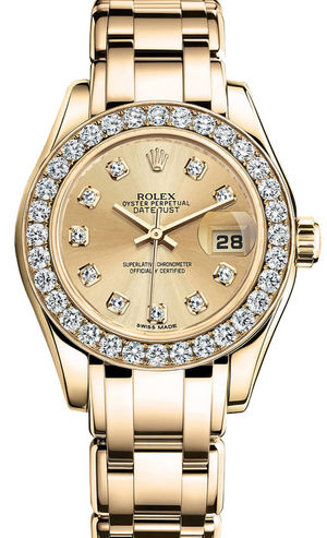 80298 champagne diamond dial Rolex Pearlmaster