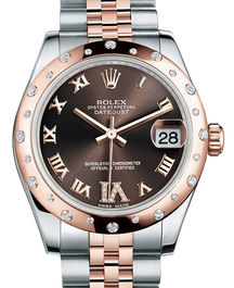 Часы Rolex Datejust 31 Everose Rolesor Domed 24 Diamonds Jubilee