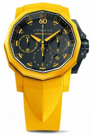 Corum Admirals Cup Challenge 44 Challenger 44 Chrono Rubber Yellow