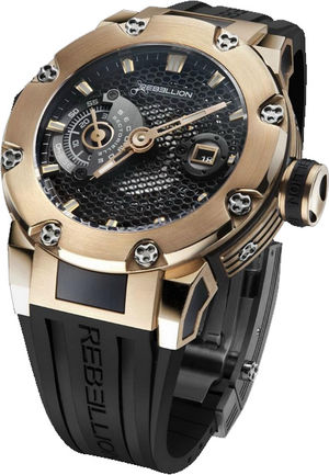 Rebellion Predator predator 3 hands and date ceram rose gold