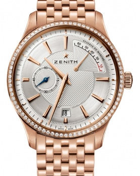 22.2120.685/02.M2120 Zenith часы Power Reserve Rose Gold Diamond