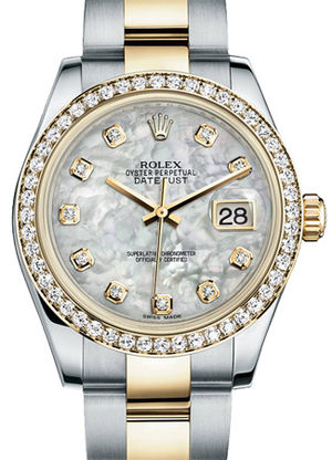 Rolex Datejust 31 178383 mother of pearl diamond dial