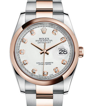 116201 white diamond dial Oyster Rolex Datejust 36