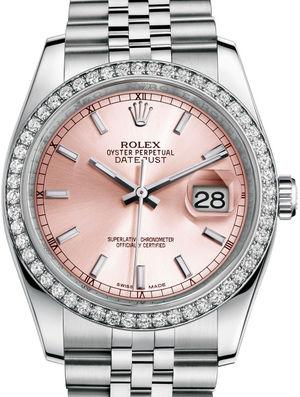 Rolex Datejust 36 116244 Pink index Jublilee Bracelet