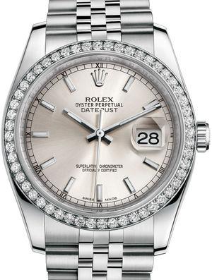 Rolex Datejust 36 116244 Silver index Jubilee Bracelet