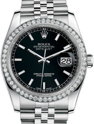 Rolex Datejust 36 116244 Black index Jublilee Bracelet