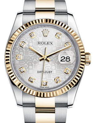 Rolex Datejust 36 116233 Silver Jubilee design diamond Oyster
