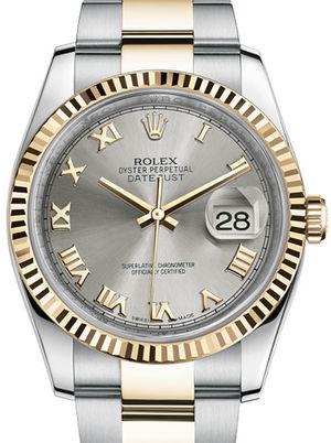 116233 Steel Roman dial Oyster Rolex Datejust 36