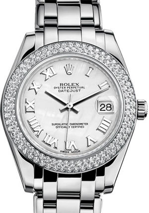 81339 mother of pearl Roman dial Rolex Pearlmaster