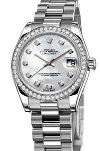Rolex Datejust 31 178286 mother of pearl diamond dial