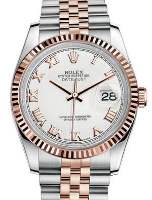 116231 white Roman dial Jubilee Rolex Datejust 36