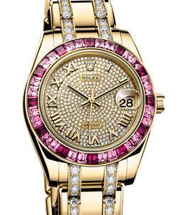 81348SARO diamond bracelet Rolex Pearlmaster