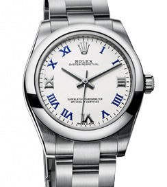 177200 white roman blue dial Rolex Oyster Perpetual