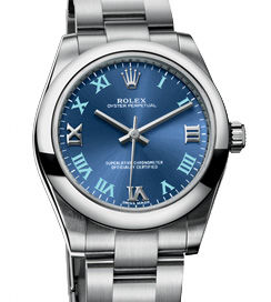 177200 Azzurro roman blue dial Rolex Oyster Perpetual