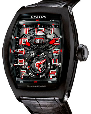 Challenge Twin-Time Black Steel Black Dial Cvstos Masterpiece Twin-Time