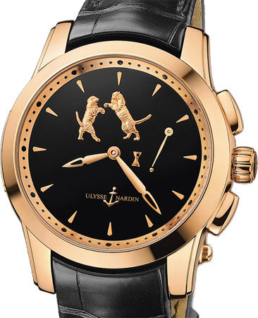 6106-130/E2-TIGER Ulysse Nardin часы Hourstriker Tiger Rose Gold