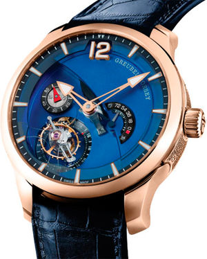 GF01c 5N red gold Mvt blue oxidized titanium Greubel Forsey Tourbillon 24 Secondes