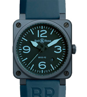 BR 03-92 Blue Ceramic Bell & Ross BR 03-92
