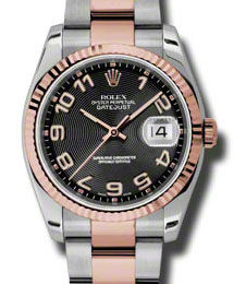 Rolex Datejust 36 116231 black concentric circle dial Oyster