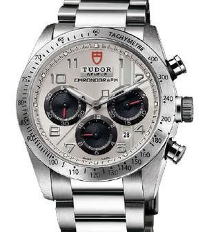42000 silver dial steel bracelet Tudor Fastrider Black Shield