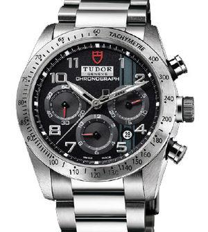 42000 black dial steel bracelet Tudor Fastrider Black Shield