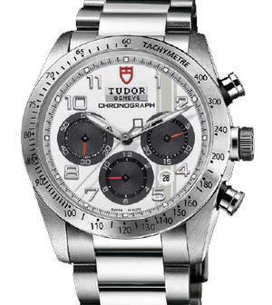 42000 white dial steel bracelet Tudor Fastrider Black Shield