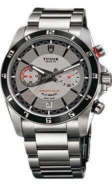 20550N silver dial steel bracelet Tudor Grantour