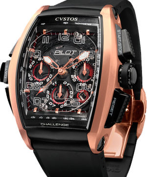 Challenge Pilot 5N red gold Cvstos Masterpiece Twin-Time