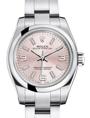 176200 pink dial Rolex Oyster Perpetual
