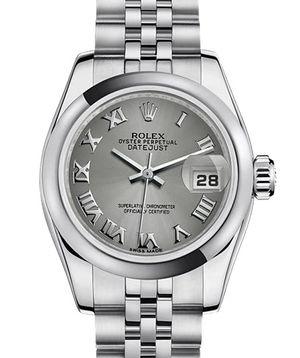 Rolex Lady-Datejust 26 179160 rhodium Roman dial Jublilee