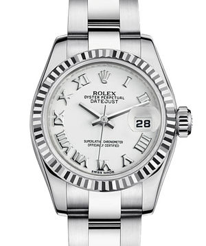 Rolex Lady-Datejust 26 179174 white Roman dial Oyster
