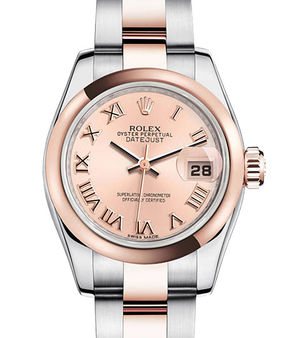 Rolex Lady-Datejust 26 179161 pink Roman dial Oyster
