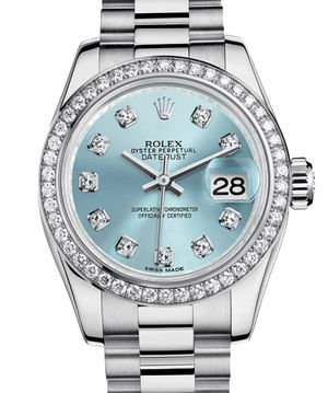 Rolex Lady-Datejust 26 179136 blue diamond dial