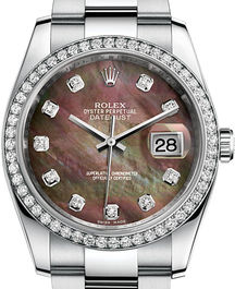 Часы Rolex Datejust 36 White Rolesor set with diamonds Oyster Bracelet