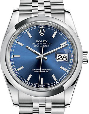 Rolex Datejust 36 116200 Blue index Jubilee Bracelet