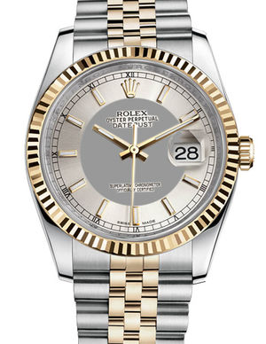 116233 steel silver dial stick Rolex Datejust 36