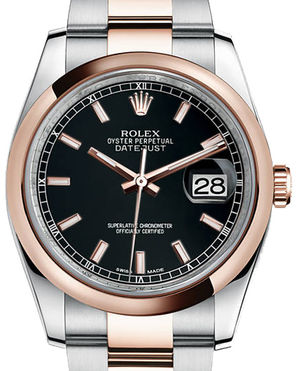 Rolex Datejust 36 116201 black index dial Oyster