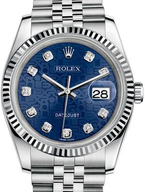 Rolex Datejust 36 116234 Blue jubilee diamonds Jubilee Bracelet