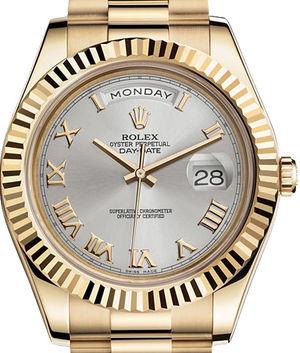 218238 silver dial Roman numerals Rolex Day-Date II Archive