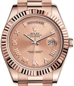 218235 Pink Roman dial Rolex Day-Date II Archive