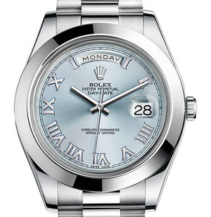 Rolex Day-Date II Archive 218206 ice blue dial Roman numerals