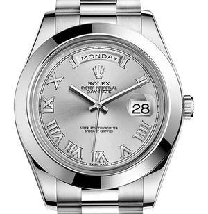Rolex Day-Date II Archive 218206 rhodium dial Roman numerals