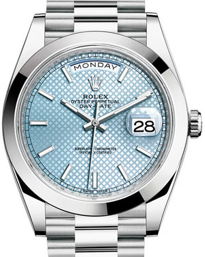 Rolex Day-Date 40 228206 Ice blue diagonal motif