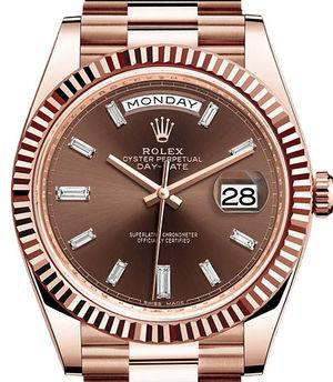 228235 chocolate diamond Rolex Day-Date 40