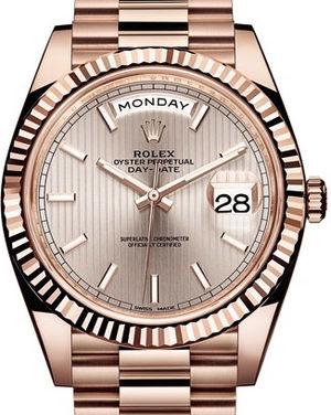 228235 Sundust stripe motif Rolex Day-Date 40