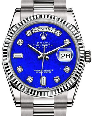 118239 Lapis Lazuli set with diamonds Rolex Day-Date 36