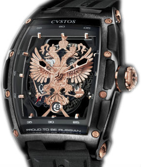 Cvstos Limited Edition GT Case Proud be Russian Black Steel PVD