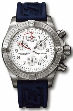 E73360.WHITE.RUBBER Breitling Avenger